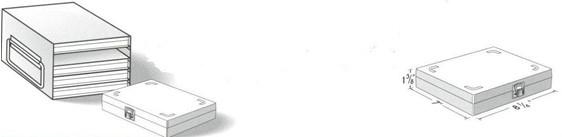 100-Place Slide Box Freezer Storage Racks