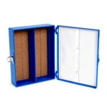 "100-Place 3x2"" Microscope Slide Box"