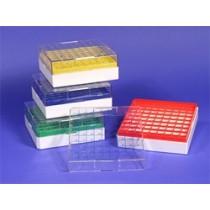 81 Place Cryovial Boxes, Economical Polycarbonate