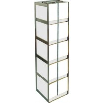 Chest Freezer Rack for 15 and 50 ml Centrifuge Tubes (Locking Rod Included)