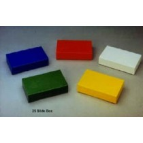 25-place microscope slide boxes (Histology)