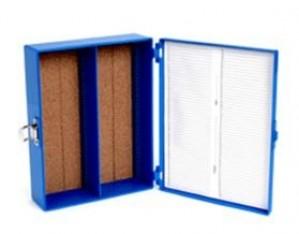 "100-Place 3x2"" Microscope Slide Box"