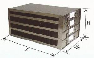 100 Place Slide Box Upright Freezer Drawer Rack